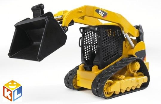 Техника bruder мини-погрузчик гусеничный cat с ковшом