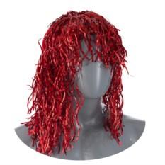 Карнавальный парик из волнистой мишуры