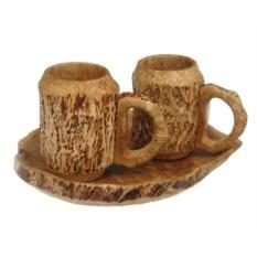 Деревянный пивной набор