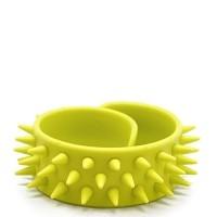 Slap-браслет с шипами (лимонный)