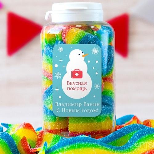 Вкусная помощь Снеговик увидел радугу