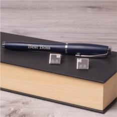 Набор: ручка Parker и запонки Эксклюзив с гравировкой