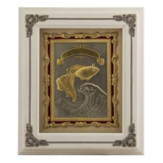 Ключница Золотая рыбкаиз дерева и меди