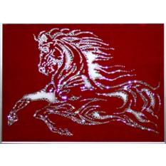 Картина с кристаллами Сваровски Конь-огонь