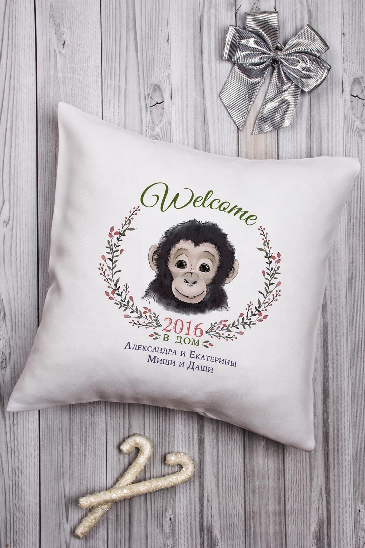 Декоративная подушка с Вашим именем Год обезьяны