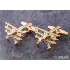 Запонки «Золотой самолет»