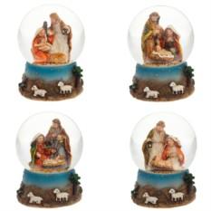 Декоративная фигурка в стеклянном шаре С Рождеством