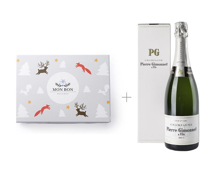 Ассорти из 12 макаронов + шампанское Cuis Premier Cru