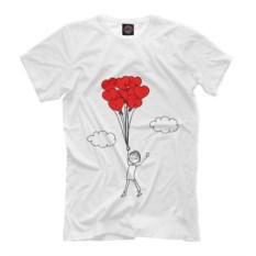 Мужская футболка Человечки и сердечки