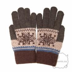 Шерстяные коричневые перчатки для сенсорного экрана iGloves