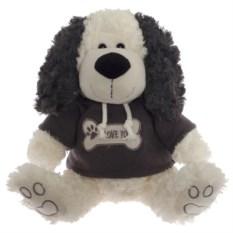 Мягкая игрушка Собака бело-серого (27 см)