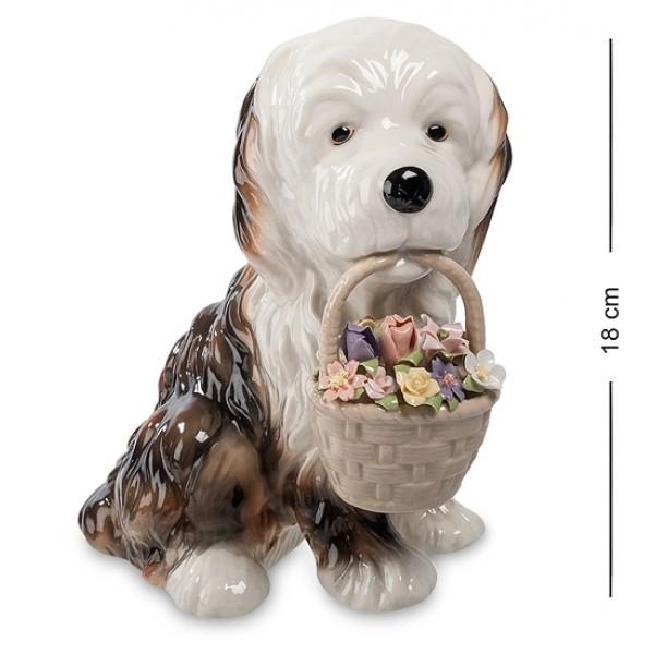 Музыкальная статуэтка Собачка с цветами (Pavone)