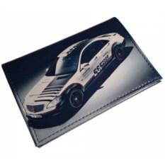 Кожаная обложка для автодокументов Speed