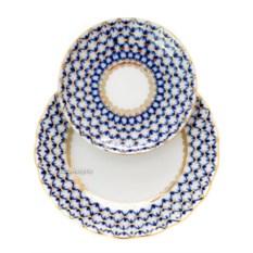 3-предметный кофейный комплект Кобальтовая сетка (фарфор)