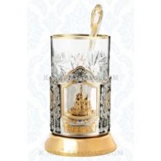 Подарочный набор для чая Храм Василия Блаженного, позолота