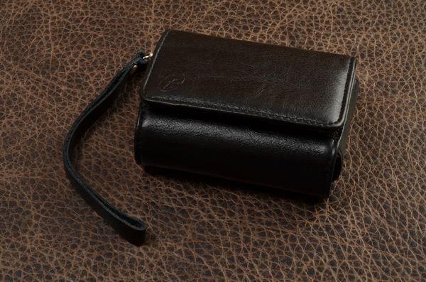 Кожаные черные чехлы для фотоаппарата