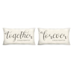 Именные парные подушки Forever together