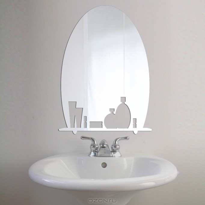 Фигурное зеркало Доброе Утро!
