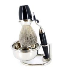 Черный набор для бритья S.Quire с чашей
