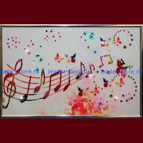 Картина Swarovski Музыка настроения