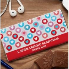 Шоколадная открытка C днем святого Валентина