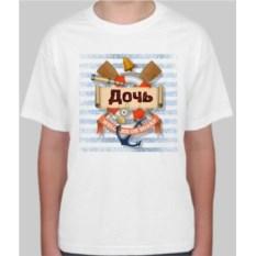Детская футболка Дочь с рисунком якоря