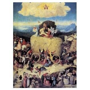 Репродукция картины И. Босха «Воз сена»