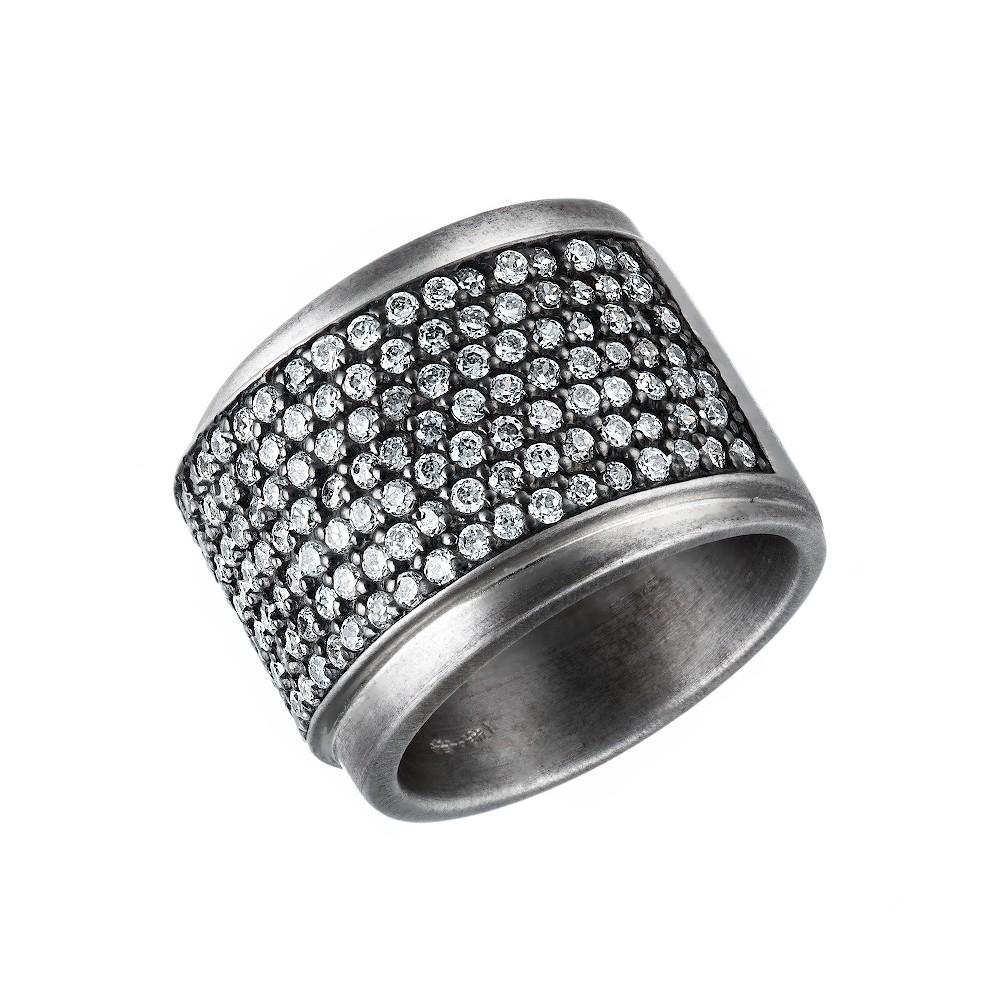 Серебряное кольцо Eugenio Campos с дорожками из фианитов