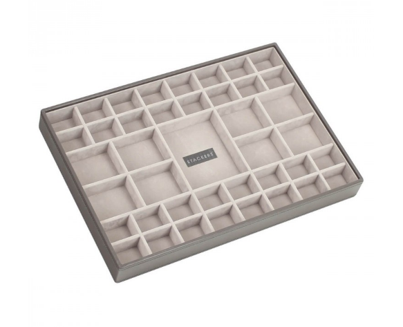 Серый открытый лоток для украшений из экокожи LC Designs