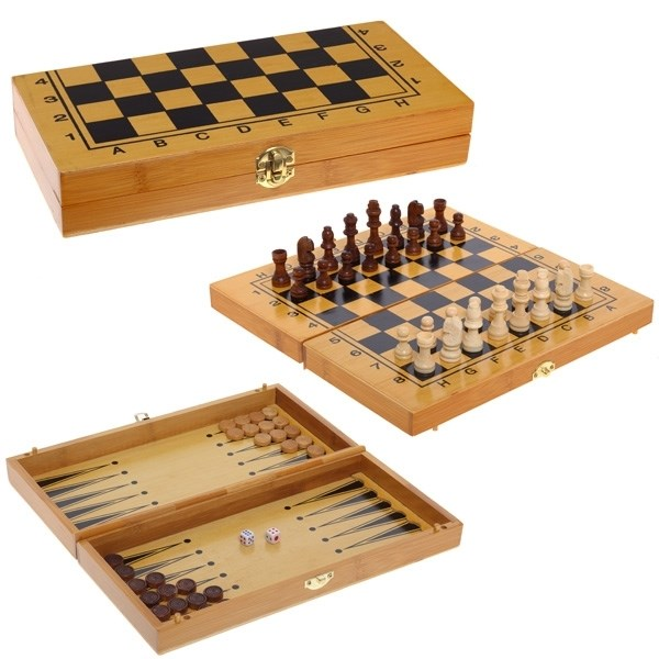 Классический набор игр 3 в 1 шахматы, нарды, шашки