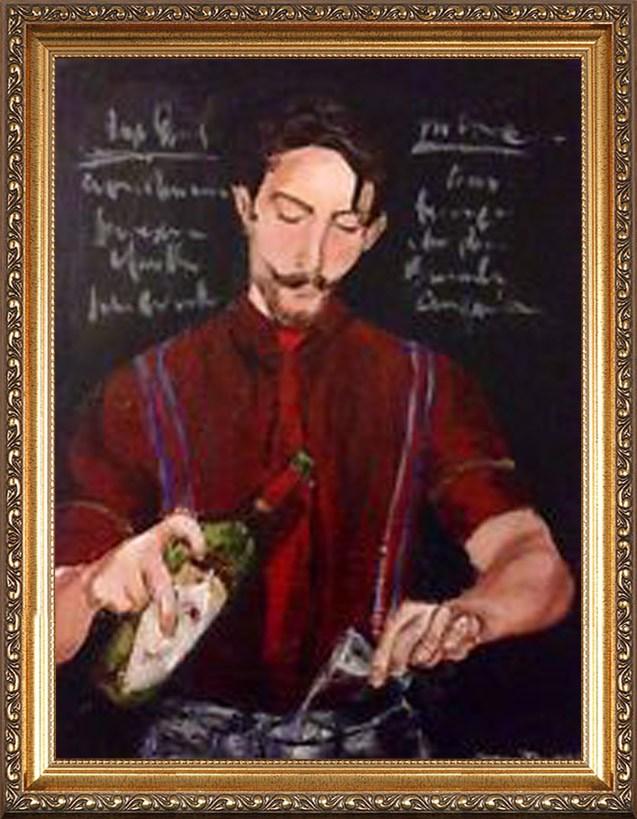 Оригинальный портрет бармену