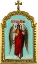 Настольная серебряная икона с образом Святого Архангела Михаила