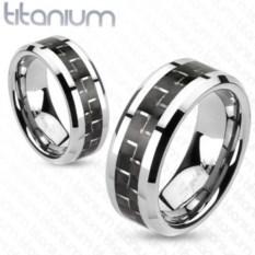 Парные кольца шириной 8 мм из титана Spikes