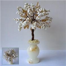Дерево желаний из кахолонга в вазочке из оникса