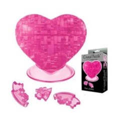 3D головоломка Розовое сердце
