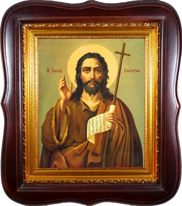 Иоанн Креститель. Икона на холсте.