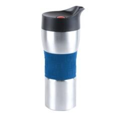 Сине-серебристый вакуумный термостакан Уберто 370 мл