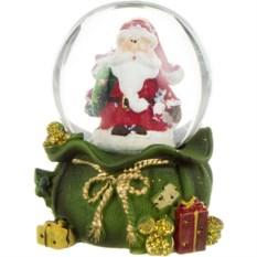 Новогодняя фигурка в стеклянном шаре Дед Мороз
