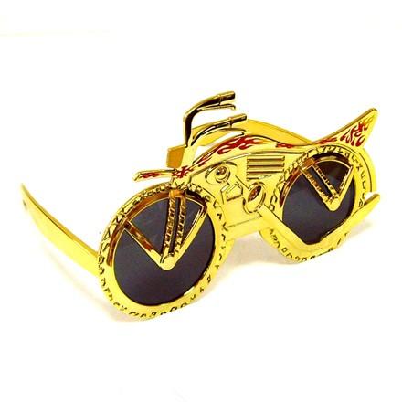 Очки Мотоцикл, золотистые