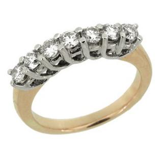 Кольцо с 7-ю бриллиантами