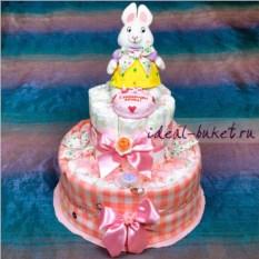 Торт из памперсов Зайка