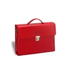 Красный кожаный женский деловой портфель Brialdi Blanes