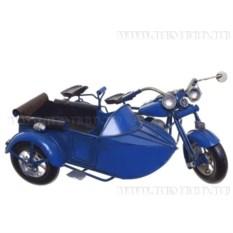 Модель мотоцикла в стиле ретро (цвет - синий)