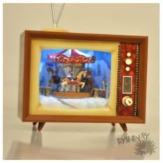 Музыкальный новогодний сувенир-телевизор Карусель
