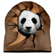 Шапка с 3D печатью Панда
