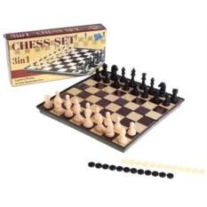 Набор настольных игр из шашек, шахмат и шахмат-шашек