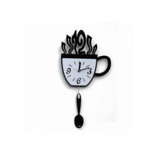 Часы Чашка и ложка (разные цвета)