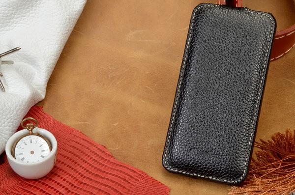 Кожаный черный чехол Melkco для iPhone 6 Plus