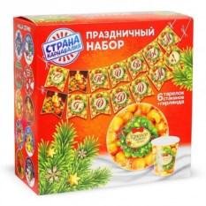 Набор новогодней посуды «Мандарины»