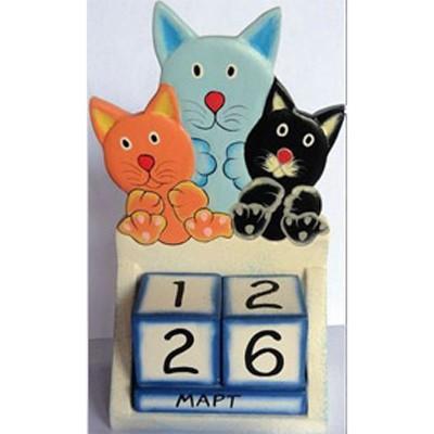 Календарь Кошка с котятами
